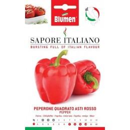 Roter Paprika Piemont Paprika mit kräftiger roter Farbe. Früh reifende Sorte. - Samenspezialitäten