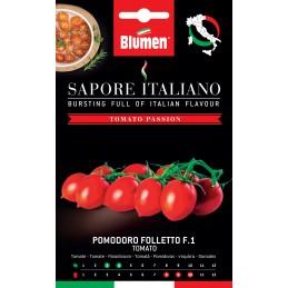 """RispentomateFollettoF.1 Kompaktwachsende Sorte mit der Bezeichnung """"Pizzutello """" - Samenraritäten"""