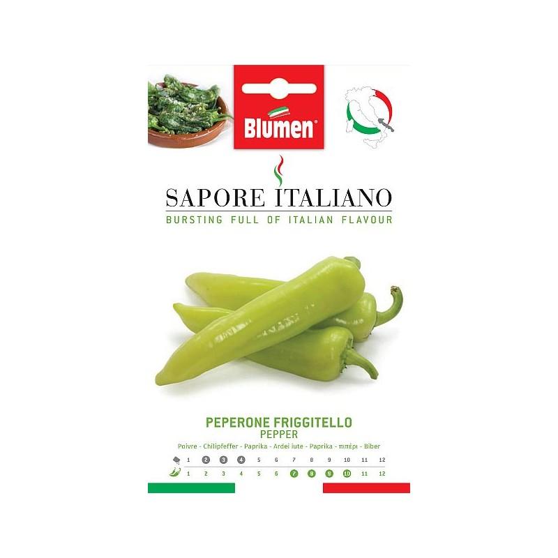 Paprika grün Friggitello Längliche Früchte, spitz und grün. - Samenspezialitäten