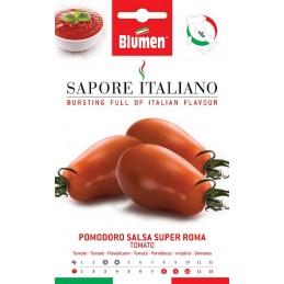 Tomate/Paradeiser Salsa Super Roma Früh reifende Pflanze mitlänglichen ei- bis birnenförmigenFrüchten, - Gemüseanbau