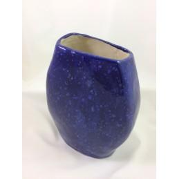Dekorative Vase aus Keramik in blau. - Raritäten