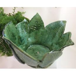 Topfaus Keramik, Blättern ca. 33 cm l 32cm b - Regionen Italiens
