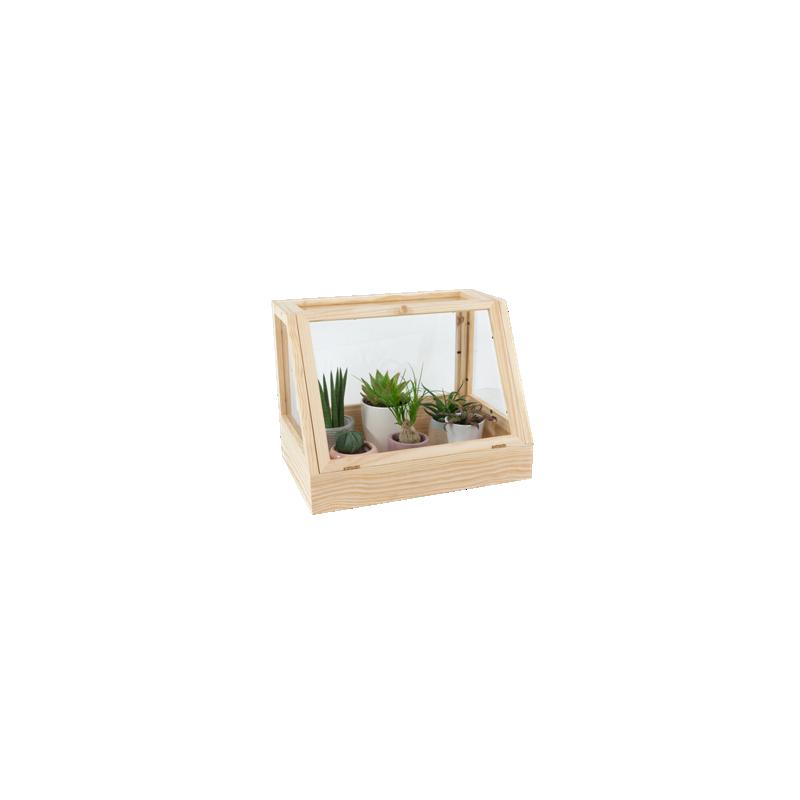 Design-Pflanzenhaus aus Massivholz Scandi-Style