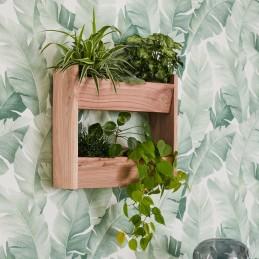 Holzregal für 3 Pflanzen - Mineralstoffern