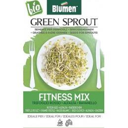 Fitness Mix -ROTER KLEE• ALFALFA • RADIESCHEN Sprossen - Samen BIO - grüne Sprossen