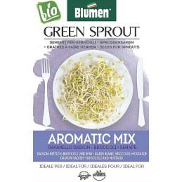 Aroma Mix -DAIKON-RETTICH- BROCCOLI UND SENF Sprossen - Samen BIO - Samenraritäten