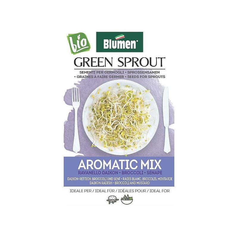 Aroma Mix -DAIKON-RETTICH- BROCCOLI UND SENF Sprossen - Samen BIO