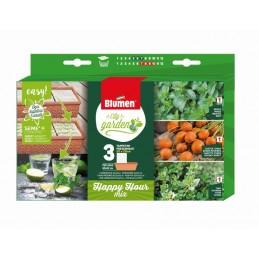 Packung Samenpad Happy Hour MIX mit Samen und Dünger - zertifiziertes Bio Saatgut