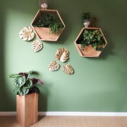 Holzwabe für Pflanzen Recyceltes Massivholz Alle unsere Möbel sind aus recyceltem Altholz hergestellt. Jedes Stück wird