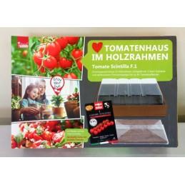 Anzuchtset - Tomatenhaus im Holzrahmen