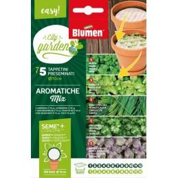 Packung Samenpad rund,Kräuter MIX mit Samen und Dünger - Samenraritäten