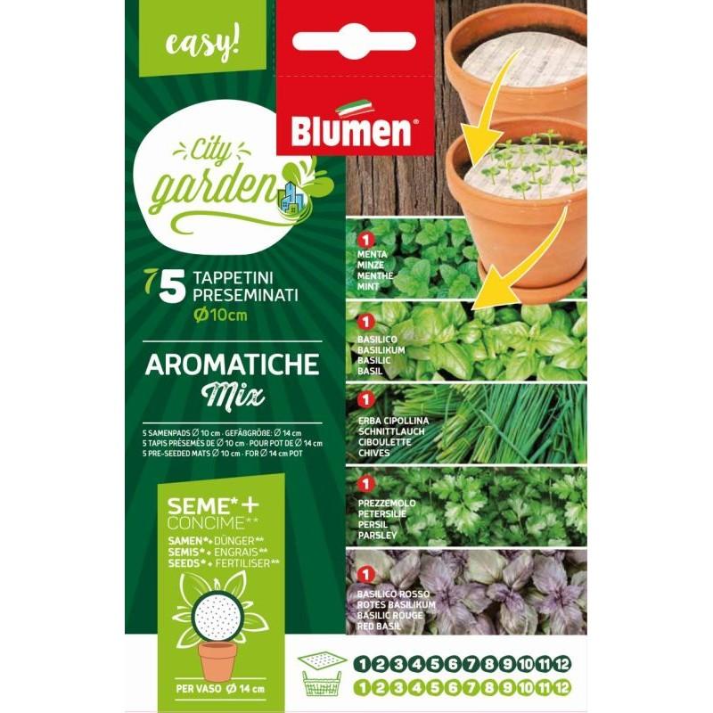 Kräuter MIX mit Samen und Dünger - Samenpads